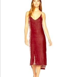 YFB velvet slip dress